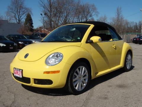 Volkswagen New Beetle Yellow. 2008 Volkswagen New Beetle