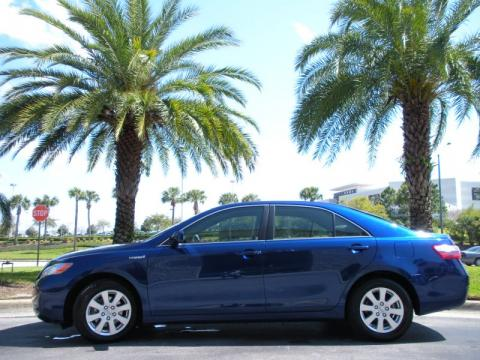 Blue Ribbon Metallic 2007 Toyota Camry Hybrid with Ash interior Blue Ribbon