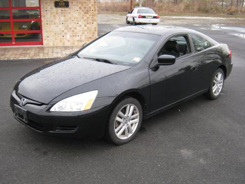 Nighthawk Black Pearl Honda Accord EX V6 Coupe. Click To Enlarge.