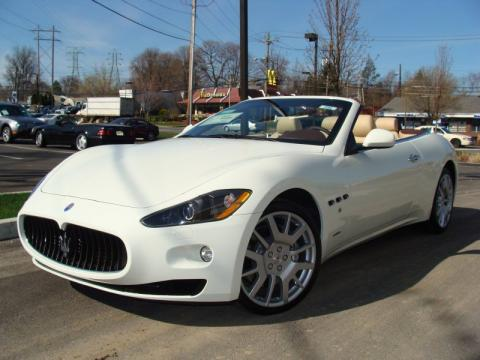 Maserati+grancabrio+white