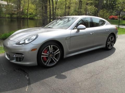 GT Silver Metallic 2010 Porsche Panamera Turbo with Luxor Beige interior GT