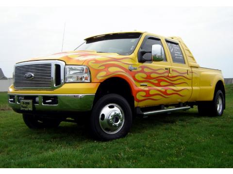 Ford F350 Dually Custom. Blazing Yellow 2006 Ford F350