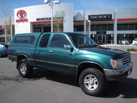 Sierra Green Pearl Metallic Toyota T100 Truck SR5 Extended Cab 4x4.  Click to enlarge.
