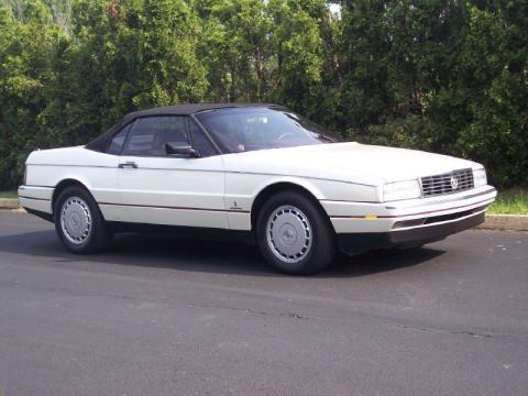 White Diamond Pearl Cadillac Allante Convertible.  Click to enlarge.