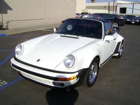 Grand Prix White 1988 Porsche 911 Targa with Black interior Grand Prix White