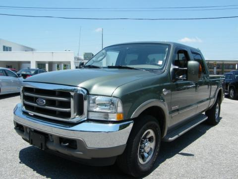 Estate Green Metallic Ford F250 Super Duty King Ranch Crew Cab 4x4.  Click to enlarge.