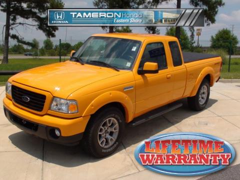 Grabber Orange Ford Ranger Sport SuperCab 4x4.  Click to enlarge.