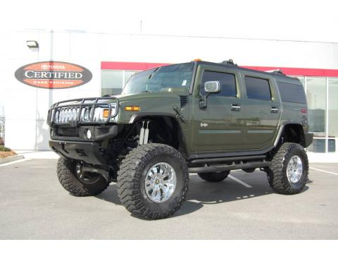 Sage Green Metallic 2003 Hummer H2 SUV with Wheat interior Sage Green