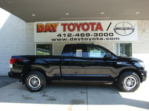 Black 2010 Toyota Tundra TRD Rock Warrior Double Cab 4x4 with Black interior