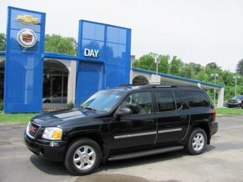 Onyx Black 2005 GMC Envoy XL SLT 4x4 with Light Tan/Ebony interior Onyx