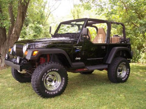 used 1997 jeep wrangler sport 4x4 for sale stock 97lift jee dealer car ad. Black Bedroom Furniture Sets. Home Design Ideas