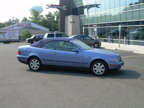 Quartz Blue Metallic 1999 Mercedes-Benz CLK 320 Convertible with Ash