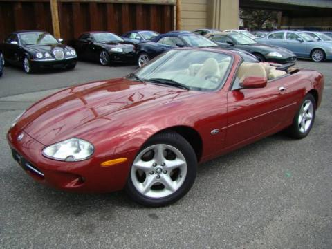Carnival Red 2000 Jaguar XK XK8 Convertible with Ivory interior Carnival Red
