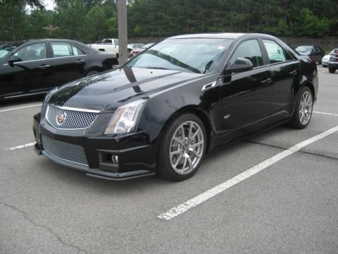 Black Raven 2011 Cadillac CTS -V Sedan with Ebony interior Black Raven