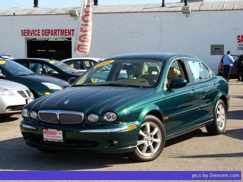 Jaguar Racing Green Metallic Jaguar X-Type 3.0.  Click to enlarge.