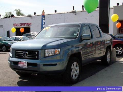 Steel Blue Metallic Honda Ridgeline RTL.  Click to enlarge.