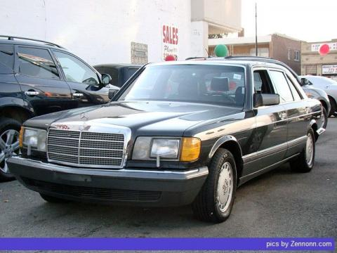 Black Mercedes-Benz S Class 420 SEL.  Click to enlarge.