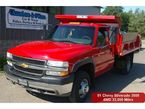 used 2001 chevrolet silverado 3500 regular cab 4x4 chassis dump truck for sale stock 10 245. Black Bedroom Furniture Sets. Home Design Ideas