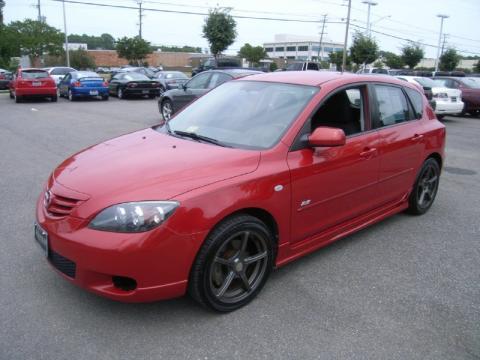 Velocity Red Mazda MAZDA3 S Hatchback. Click To Enlarge.