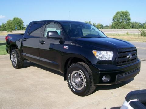 Black 2010 Toyota Tundra TRD Rock Warrior CrewMax 4x4 with Black interior