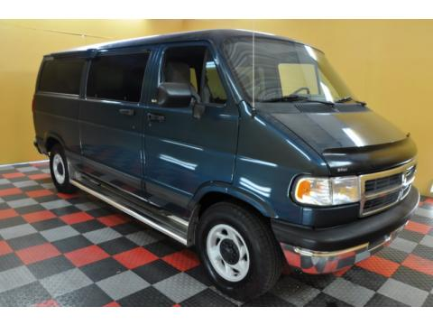 Medium Blue Metallic Dodge Ram Van 2500 SLT Passenger.  Click to enlarge.