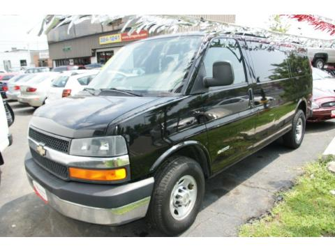 2005 Chevrolet Express Cargo Van. Black 2005 Chevrolet Express