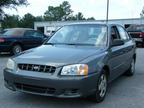 Charcoal Gray Hyundai Accent GL Sedan.  Click to enlarge.