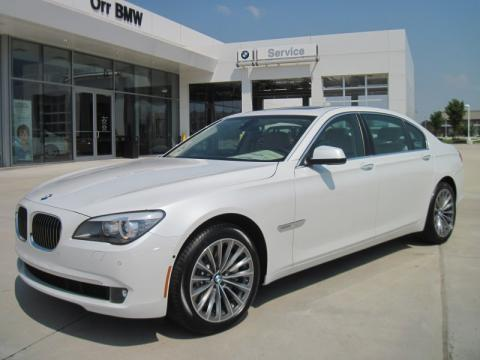 Mineral White Metallic 2011 BMW 7 Series 750Li Sedan with Oyster/Black Nappa