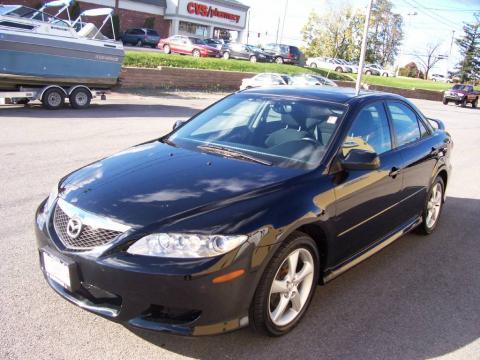mazda 6 2004 black. onyx black 2004 mazda mazda6 i sedan with interior 6 p