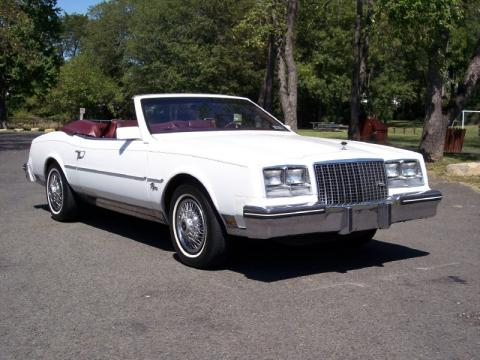 White Buick Riviera Convertible.  Click to enlarge.