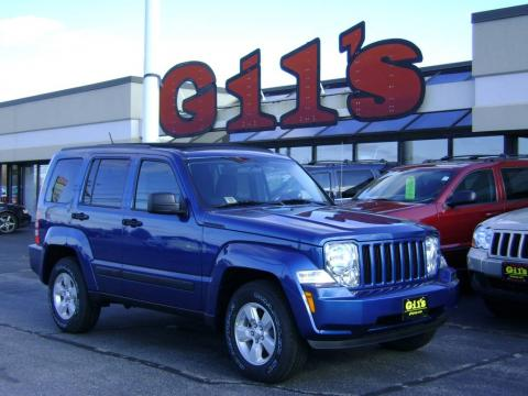 Deep Water Blue Pearl 2009 Jeep Liberty Sport 4x4 with Light Slate Gray/Dark