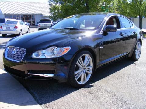 Ultimate Black Jaguar XF XF Supercharged Sedan.  Click to enlarge.