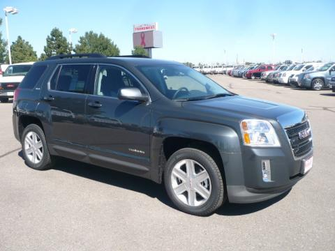 Cyber Gray Metallic GMC Terrain SLE AWD.  Click to enlarge.