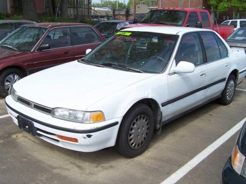 93 honda accord. Frost White 1993 Honda Accord