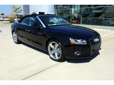 Brilliant Black 2011 Audi A5 2.0T Convertible with Linen Beige interior