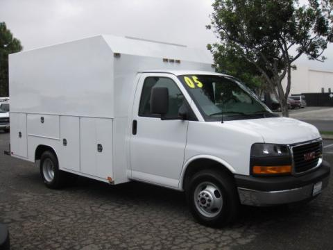 used 2005 gmc savana cutaway 3500 commercial van for sale stock 222114. Black Bedroom Furniture Sets. Home Design Ideas