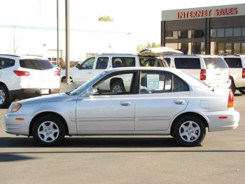 Amazing Silver Mist Hyundai Accent GLS Sedan. Click To Enlarge.