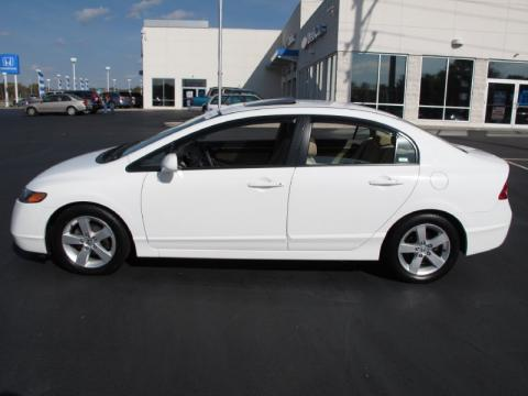 Elegant Taffeta White Honda Civic EX Sedan. Click To Enlarge.