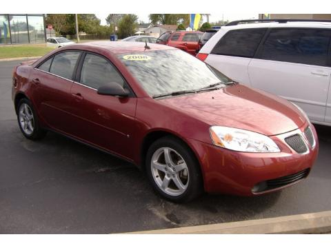 Performance Red Metallic Pontiac G6 V6 Sedan.  Click to enlarge.