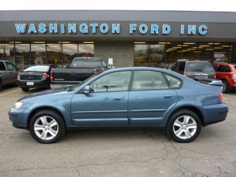 Atlantic Blue Pearl 2005 Subaru Outback 3.0 R Sedan with Taupe interior