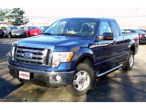 Dark Blue Pearl Metallic Ford F150 XLT SuperCab 4x4.  Click to enlarge.