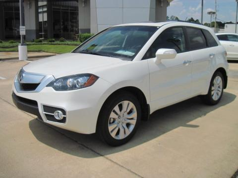 White Diamond Pearl 2011 Acura RDX Technology with Ebony interior White