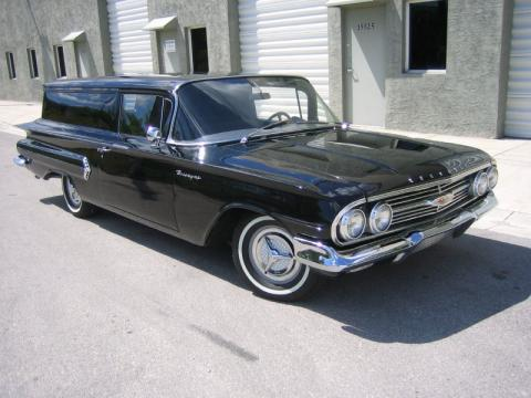 Black Chevrolet Biscayne Brookwood Station Wagon.  Click to enlarge.
