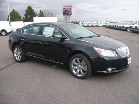 Carbon Black Metallic 2011 Buick LaCrosse CXL AWD with Dark Titanium/Light