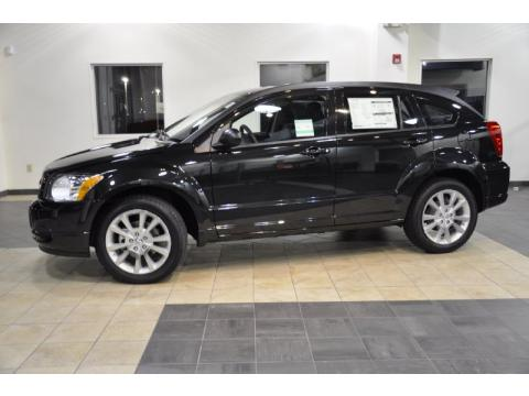 Brilliant Black Crystal Pearl 2011 Dodge Caliber Heat with Dark Slate Gray