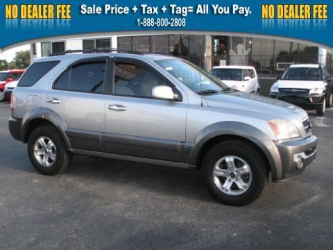 Diamond Silver Metallic Kia Sorento EX.  Click to enlarge.