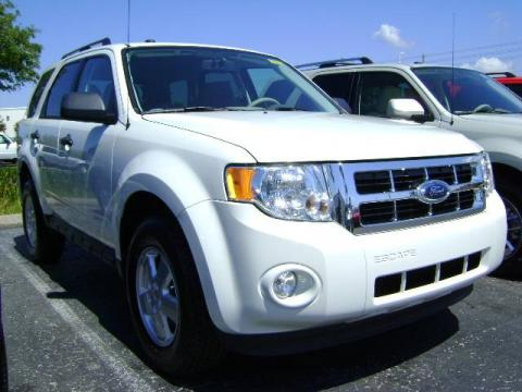 White Suede 2009 Ford Escape XLT V6 with Stone interior White Suede Ford