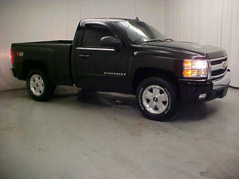 Black Chevrolet Silverado 1500 LT Z71 Regular Cab 4x4.  Click to enlarge.