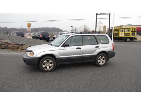 Platinum Silver Metallic Subaru Forester 2.5 X.  Click to enlarge.