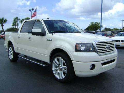 White Sand Tri-Coat Ford F150 Limited SuperCrew.  Click to enlarge.